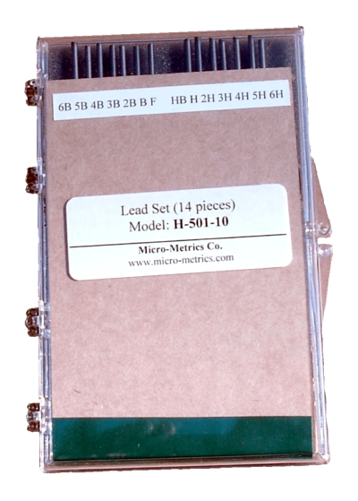 Lead set carrying case with full set of leads